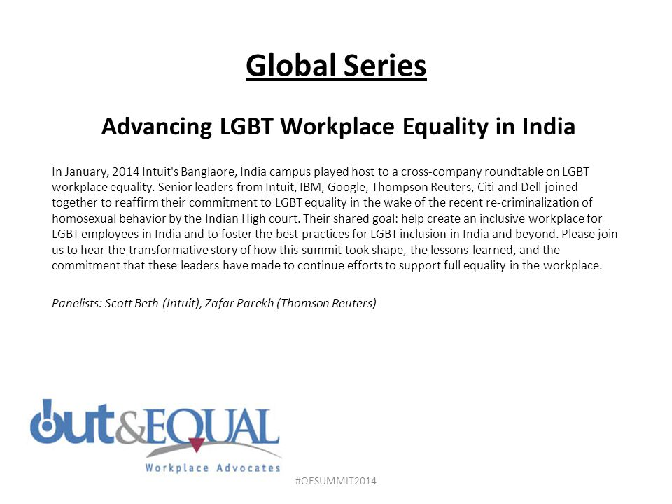 Advancing LGBT Workplace Equality in India