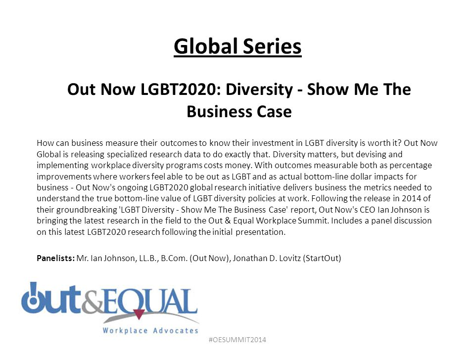 Out Now LGBT2020: Diversity - Show Me The Business Case