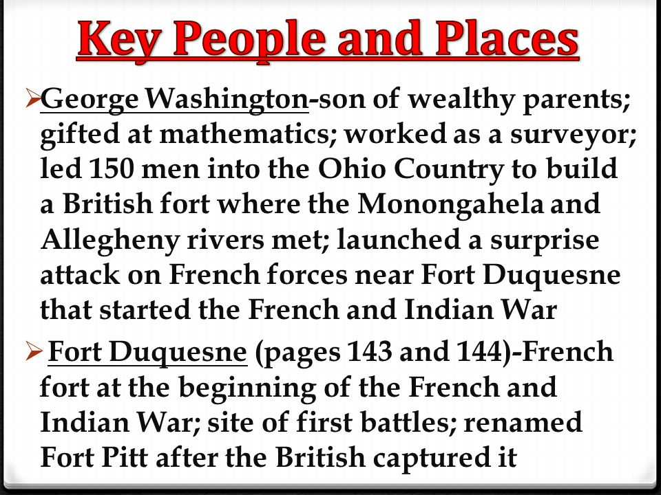Key People and Places
