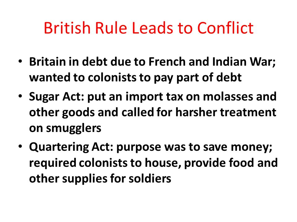 British Rule Leads to Conflict