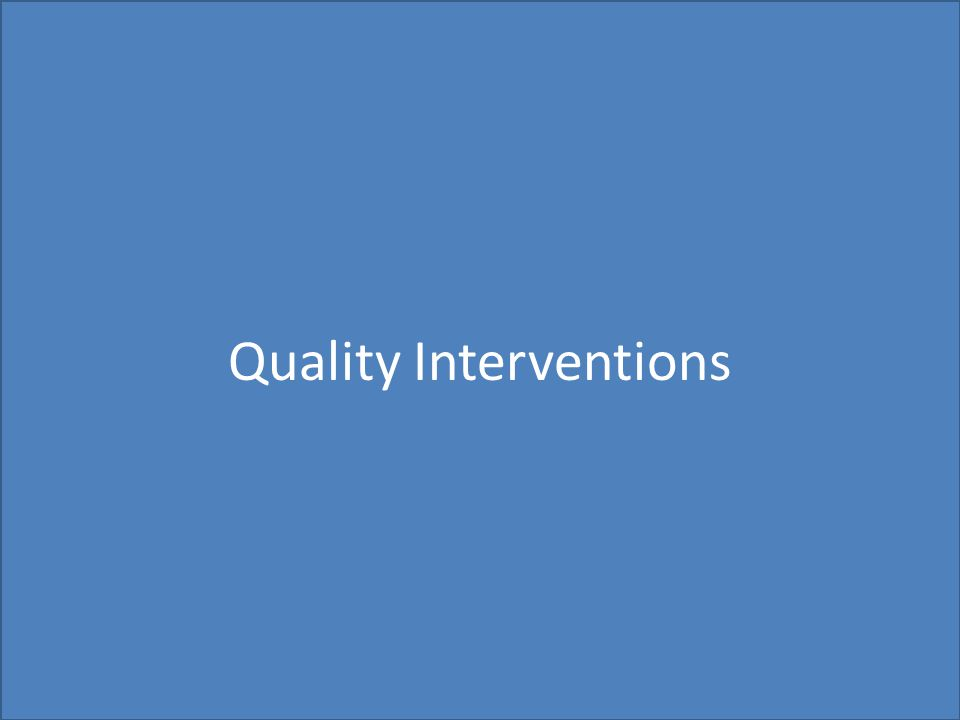 Quality Interventions