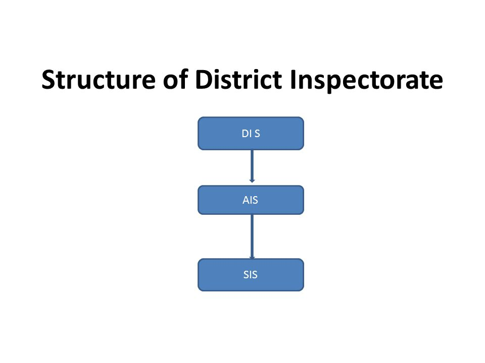 Structure of District Inspectorate