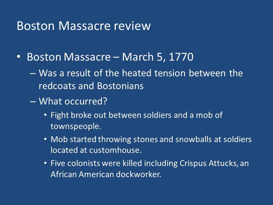 Boston Massacre review