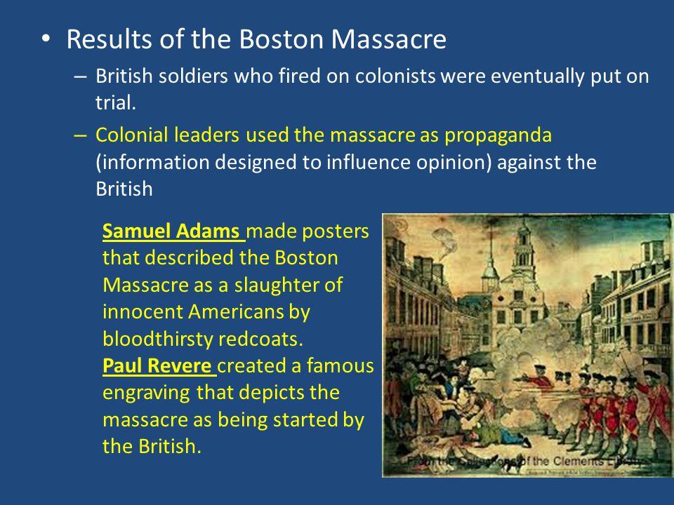 Results of the Boston Massacre