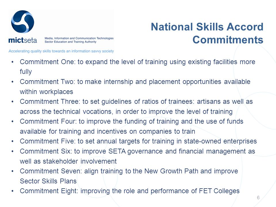 National Skills Accord Commitments