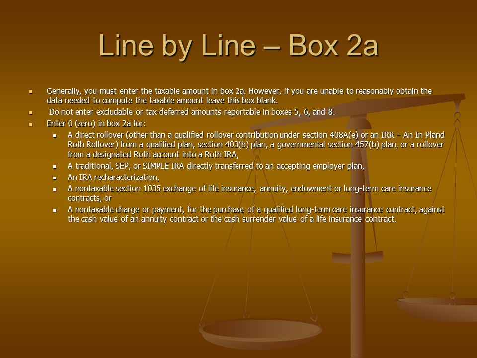 Line by Line – Box 2a