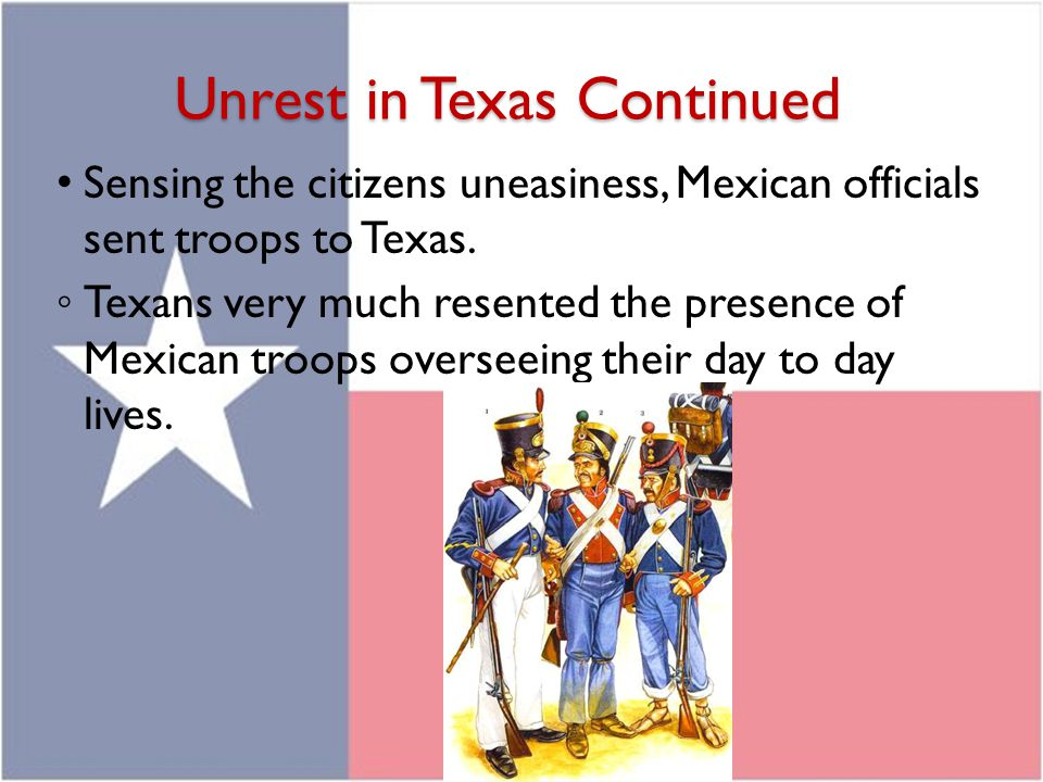 Unrest in Texas Continued