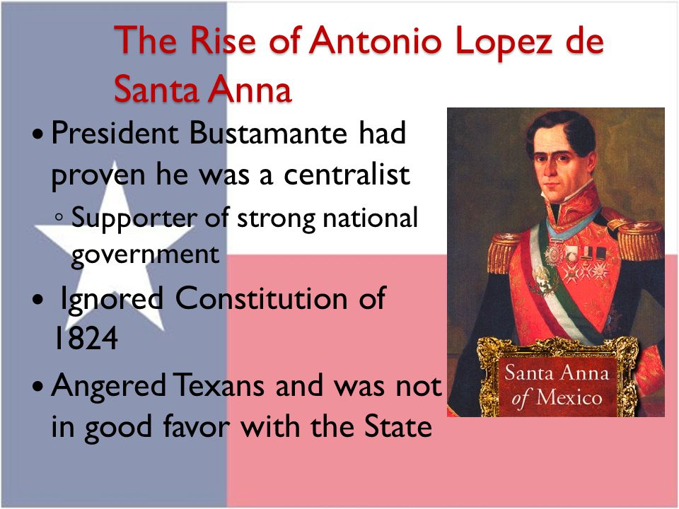 The Rise of Antonio Lopez de Santa Anna