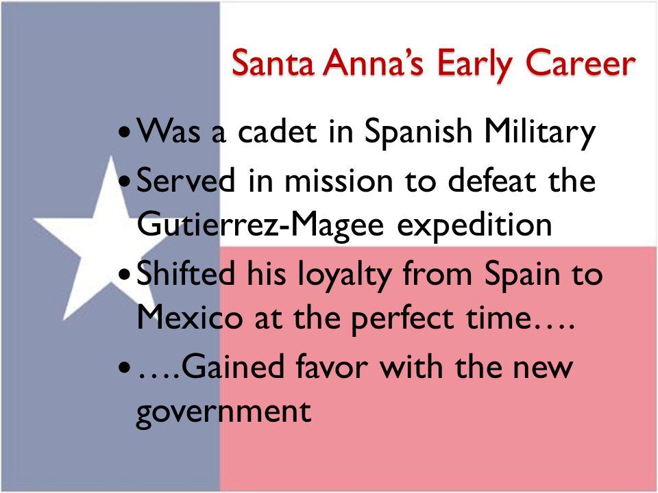 Santa Anna's Early Career