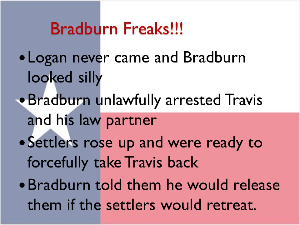 Bradburn Freaks!!! Logan never came and Bradburn looked silly