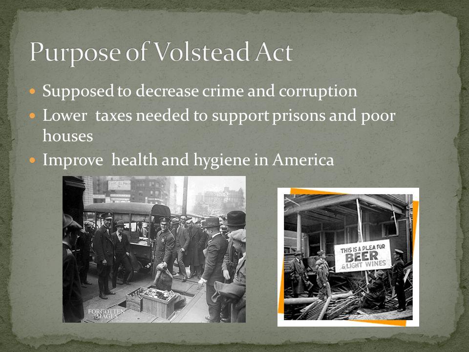Purpose of Volstead Act