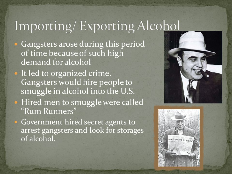 Importing/ Exporting Alcohol