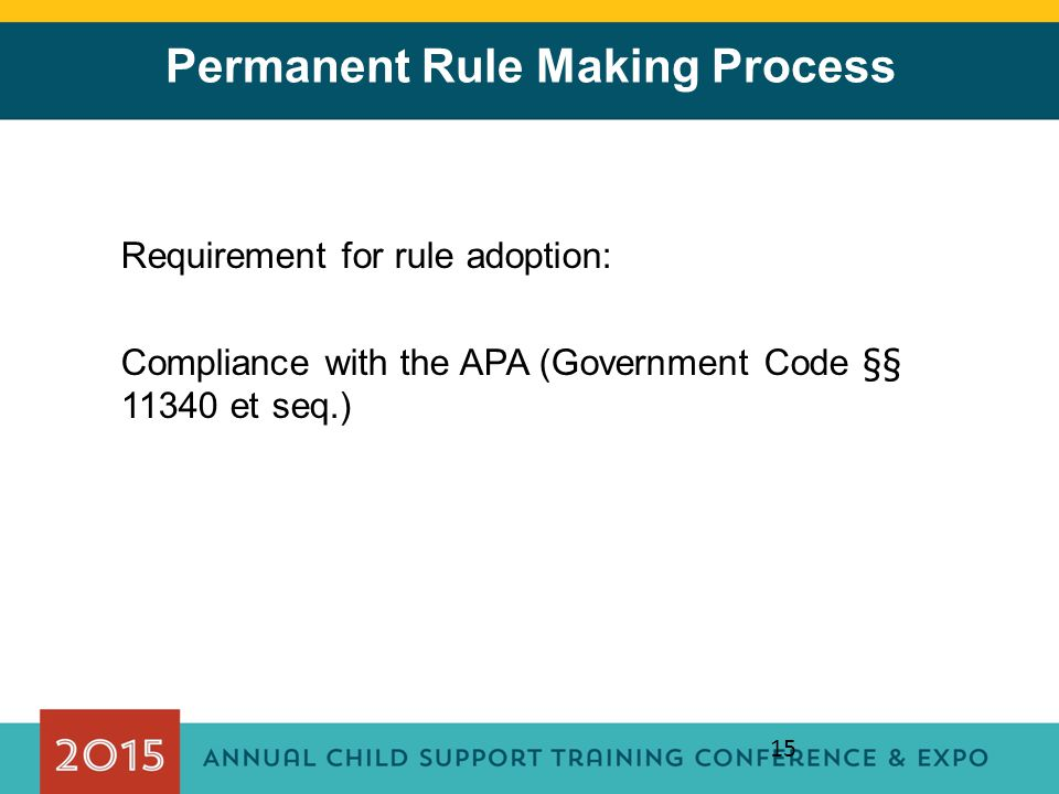 Permanent Rule Making Process