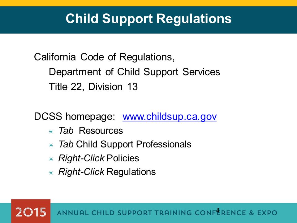 Child Support Regulations