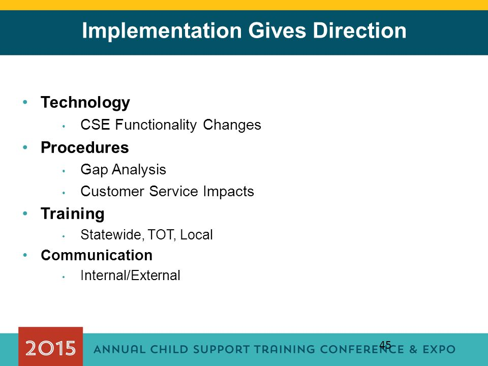 Implementation Gives Direction