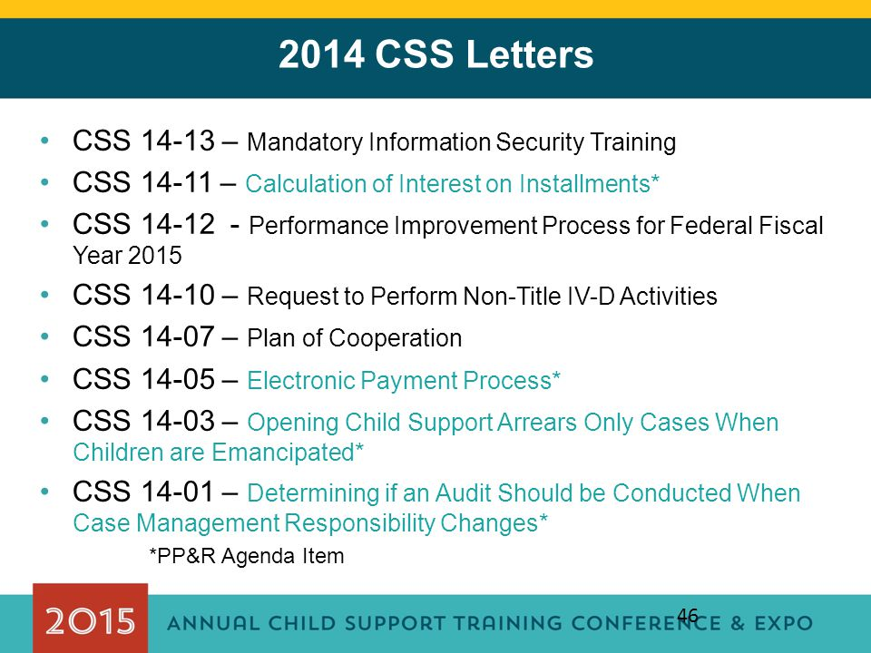 2014 CSS Letters CSS 14-13 – Mandatory Information Security Training