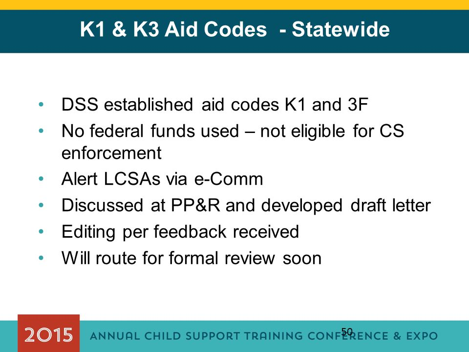 K1 & K3 Aid Codes - Statewide