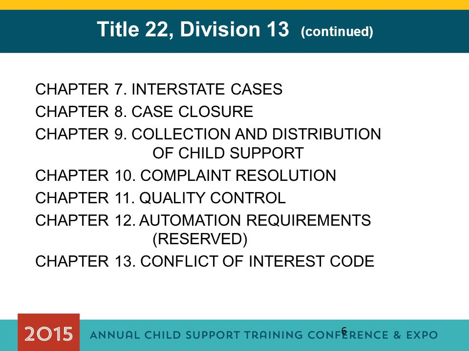 Title 22, Division 13 (continued)