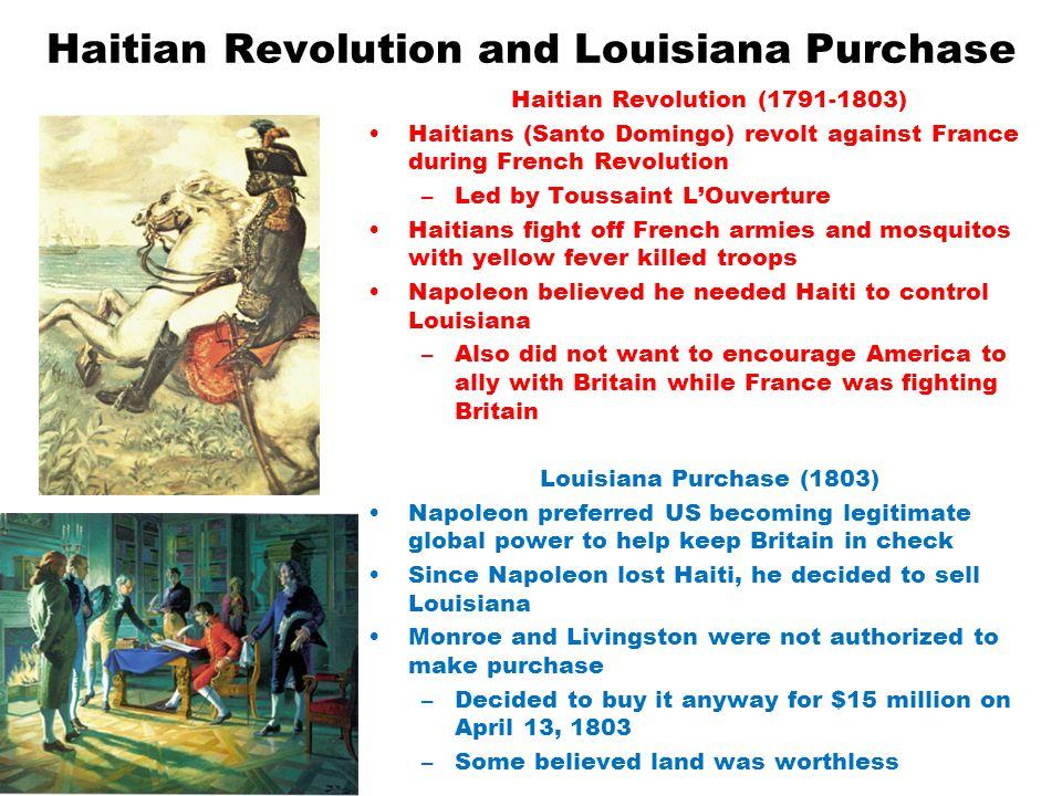 Haitian Revolution and Louisiana Purchase