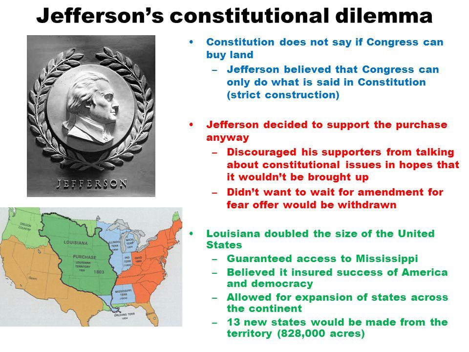 Jefferson's constitutional dilemma