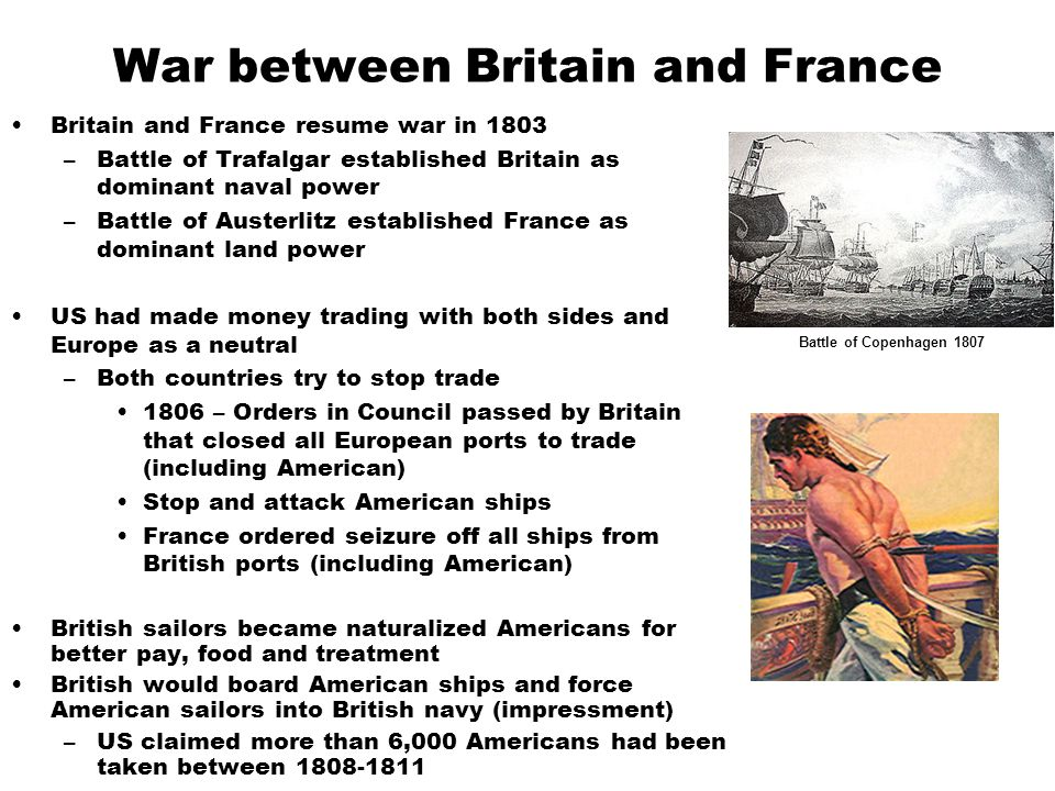 War between Britain and France