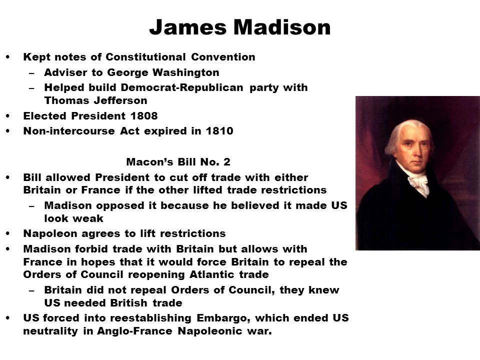 James Madison Kept notes of Constitutional Convention
