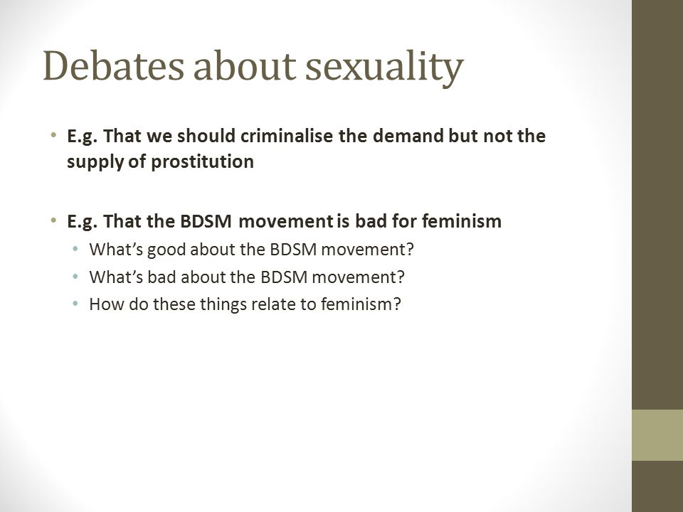 Debates about sexuality