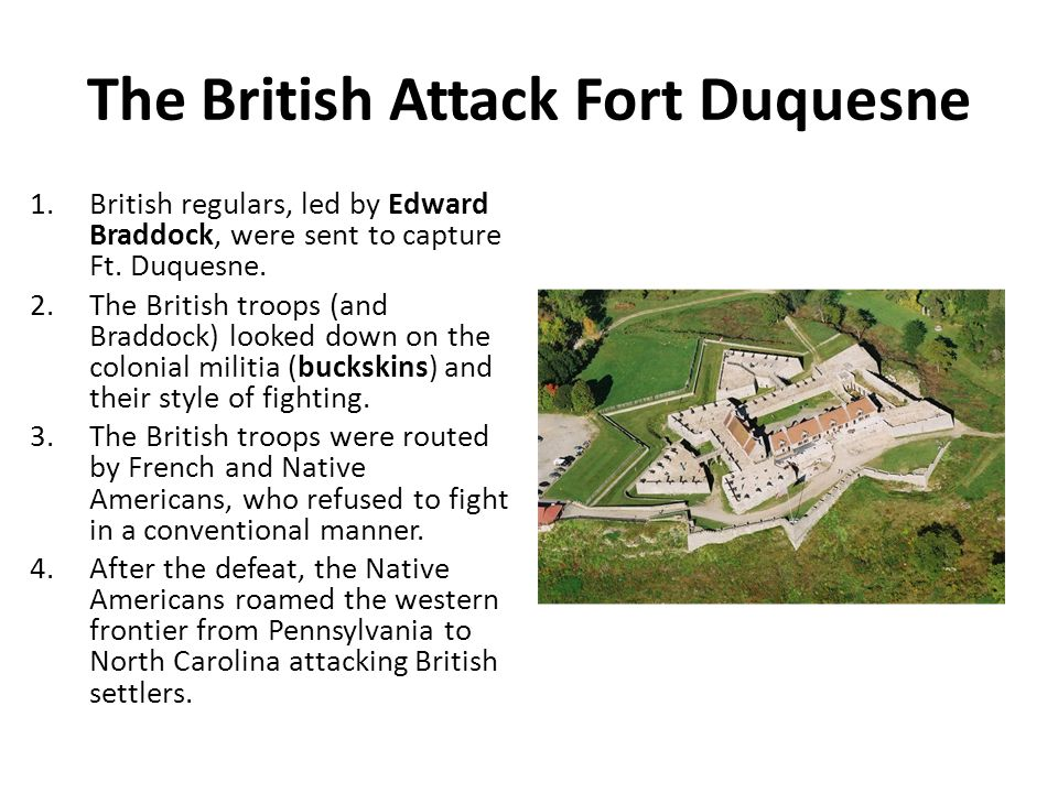 The British Attack Fort Duquesne