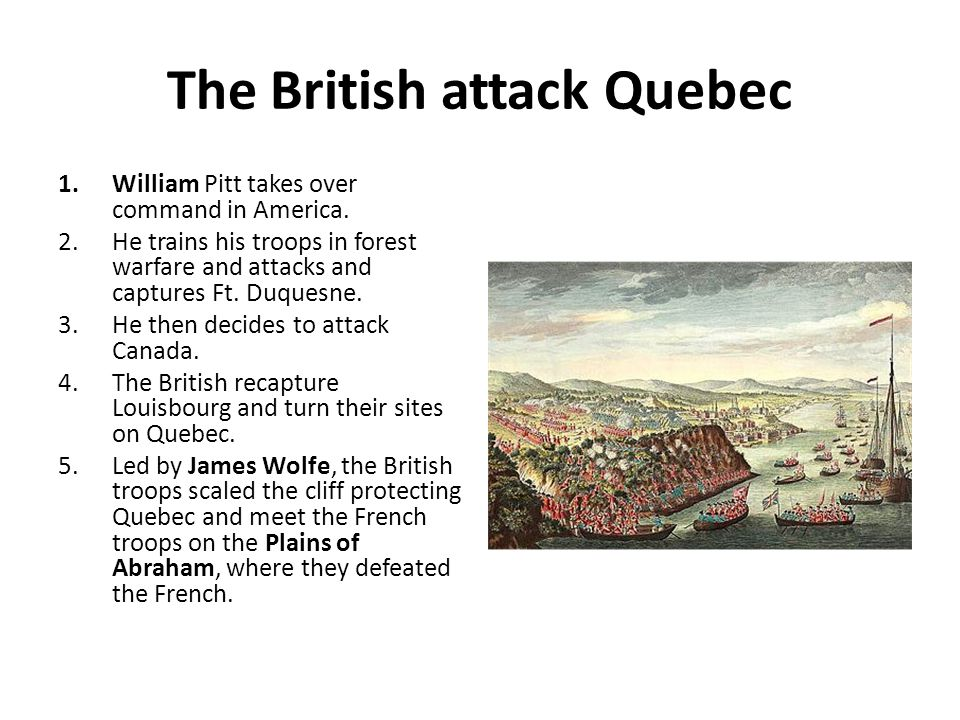 The British attack Quebec