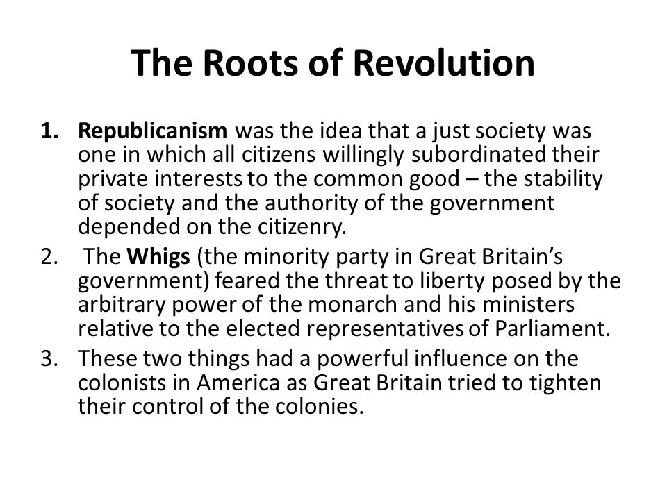 The Roots of Revolution