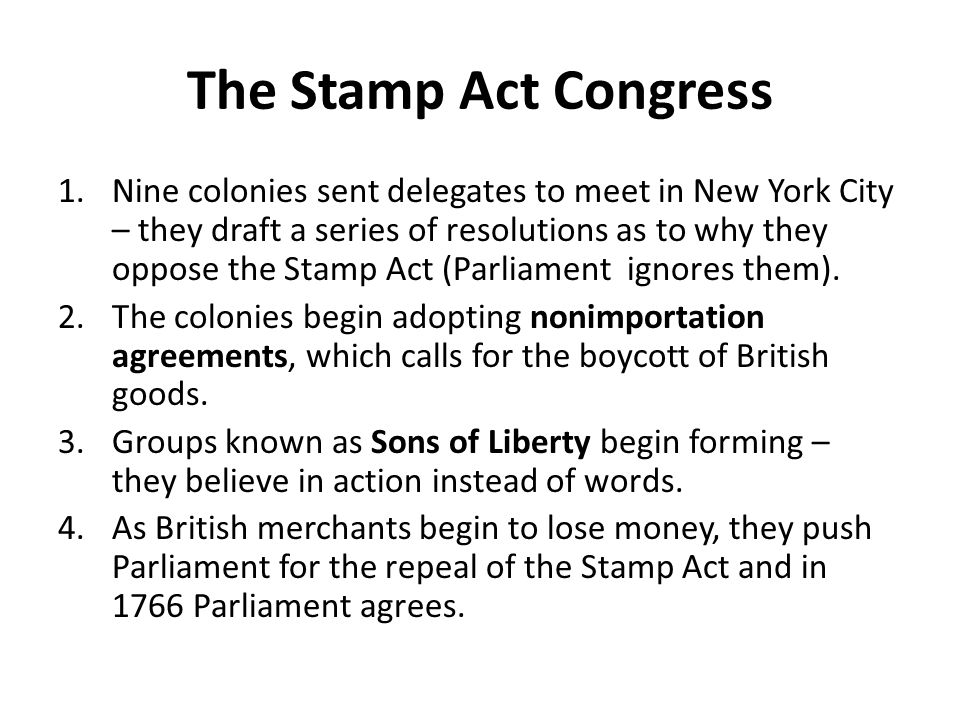 The Stamp Act Congress