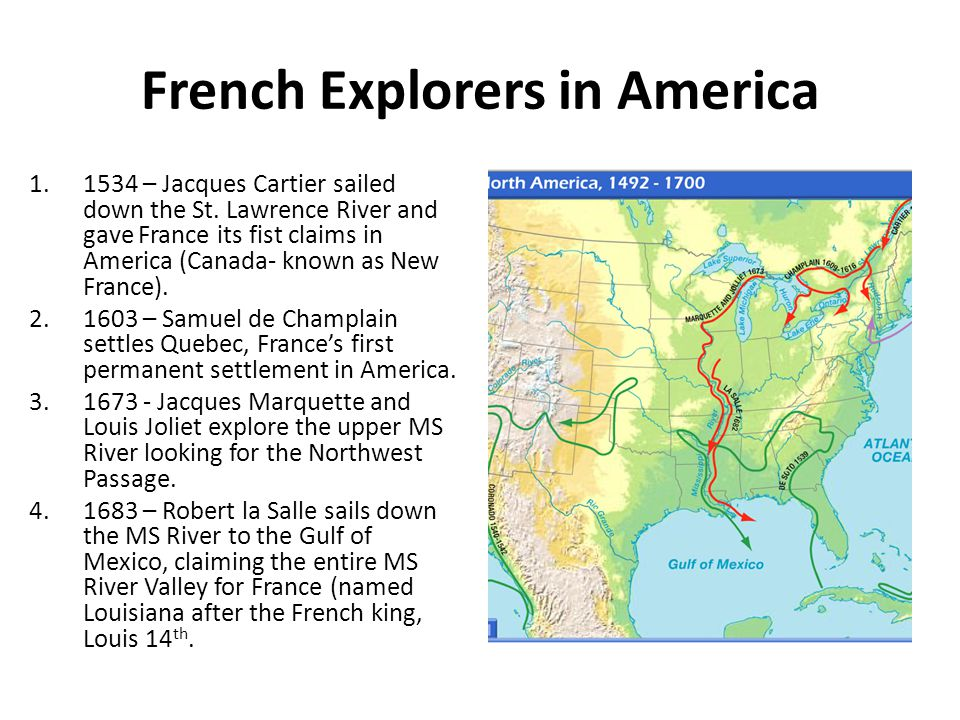 French Explorers in America