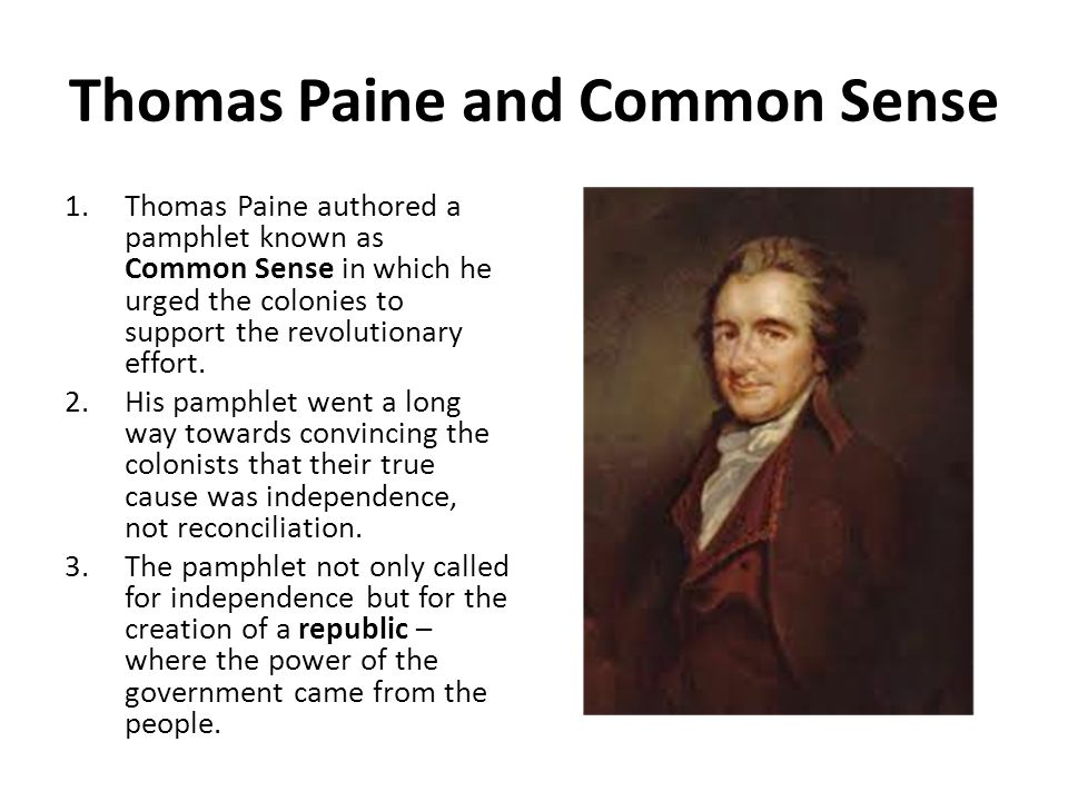 Thomas Paine and Common Sense