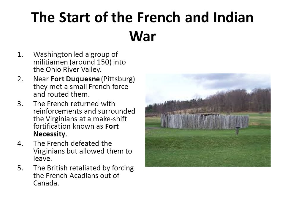 The Start of the French and Indian War