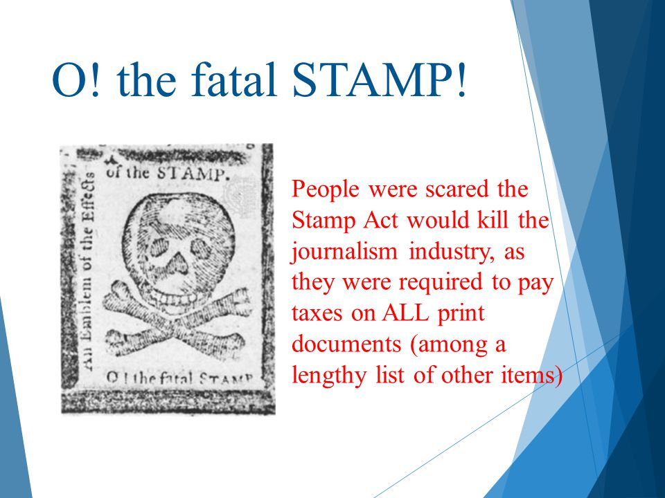 O! the fatal STAMP!