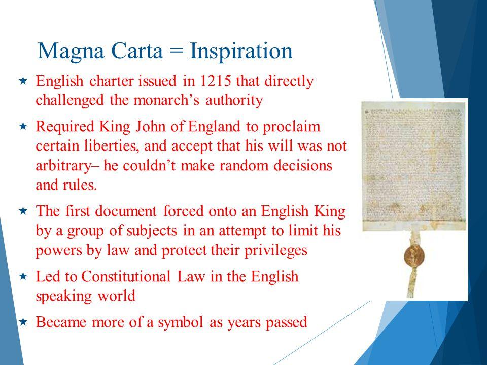Magna Carta = Inspiration
