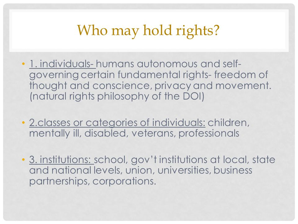 Who may hold rights