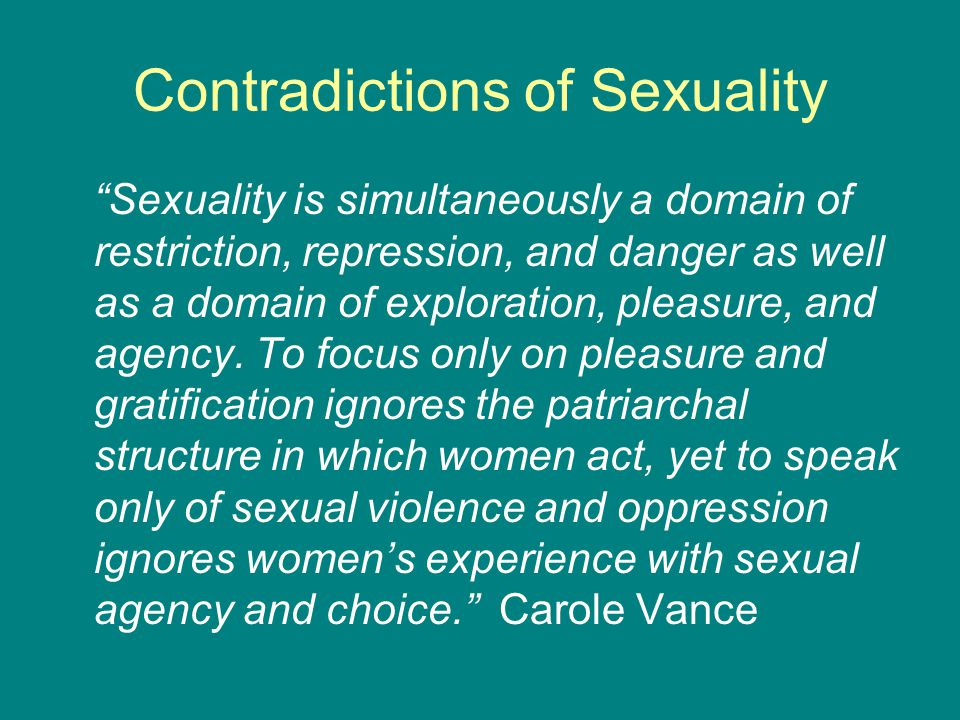 Contradictions of Sexuality