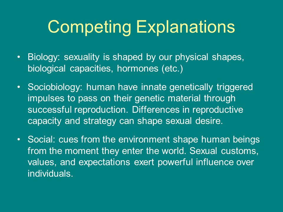 Competing Explanations