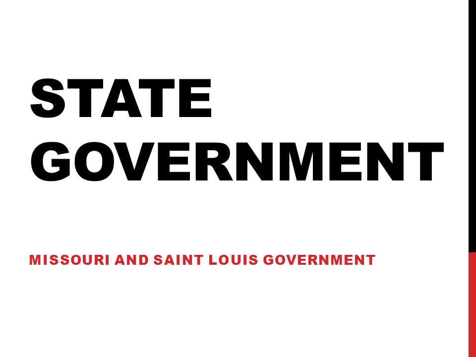 Missouri and Saint Louis Government