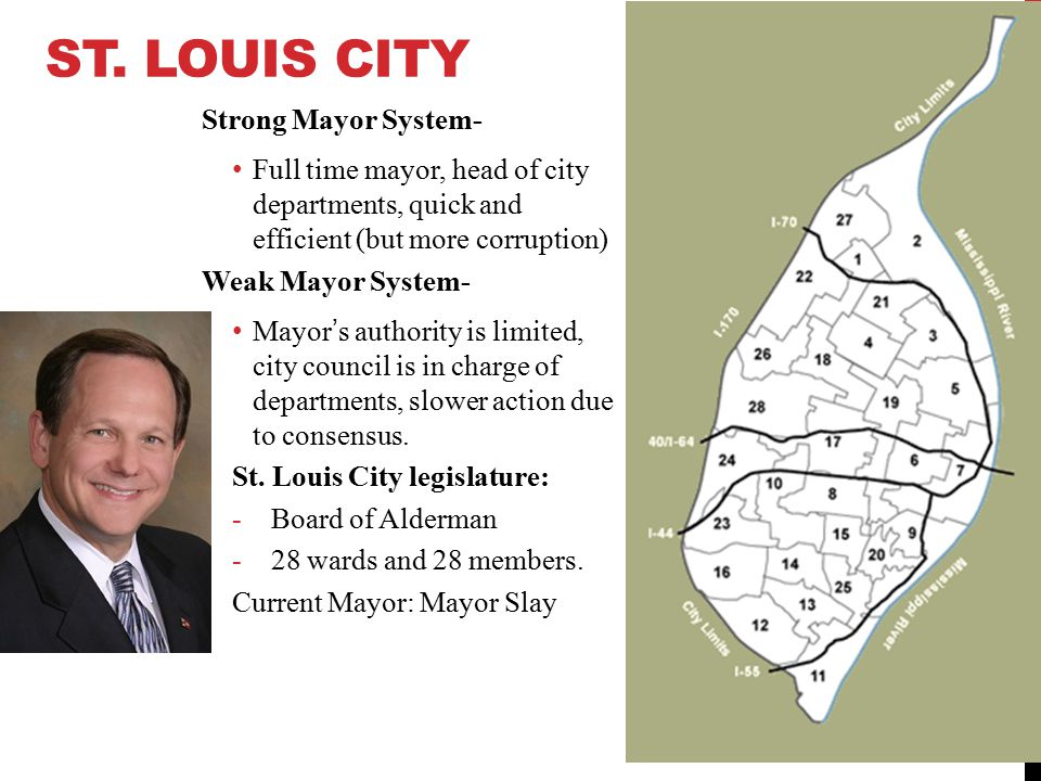 St. Louis City Strong Mayor System-