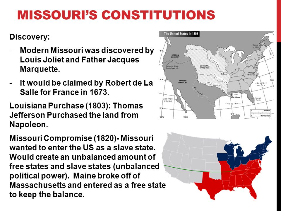 Missouri's constitutions