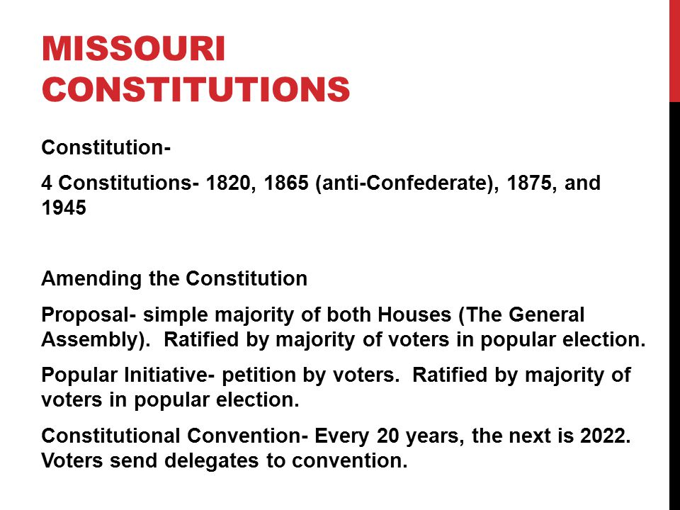 Missouri Constitutions