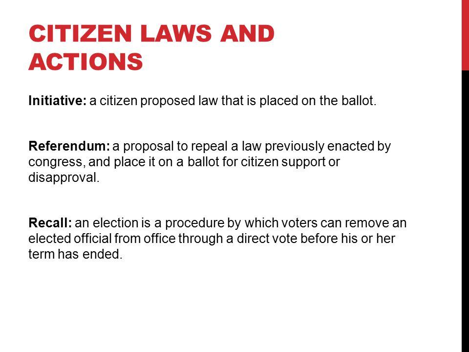 Citizen Laws and actions