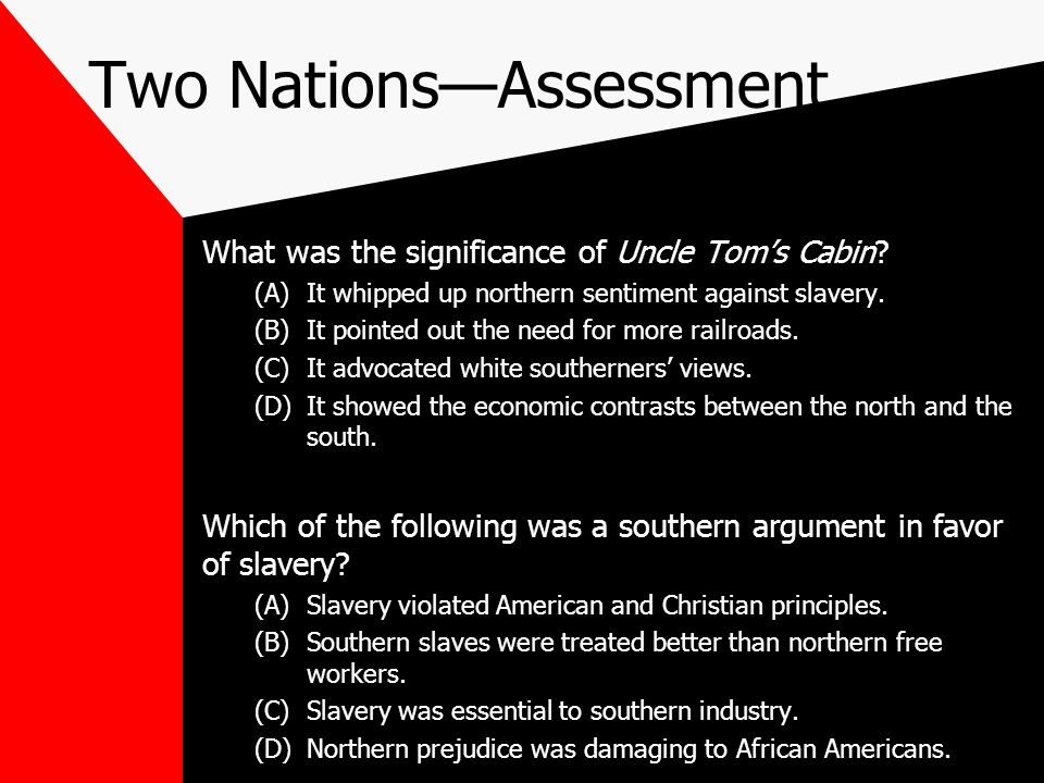 Two Nations—Assessment