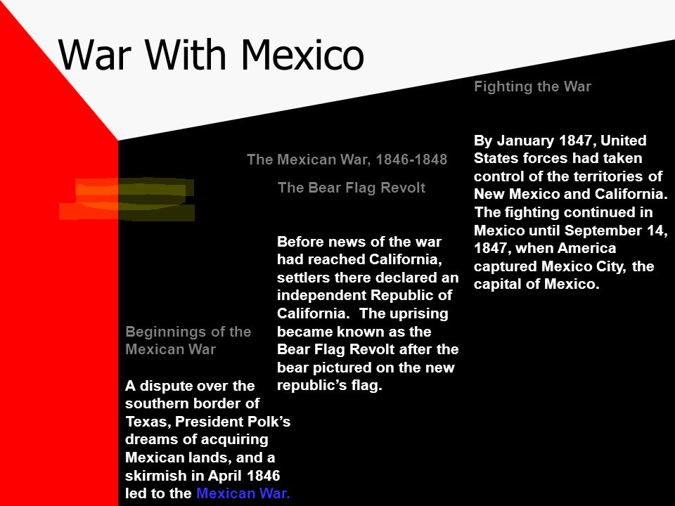 War With Mexico Fighting the War