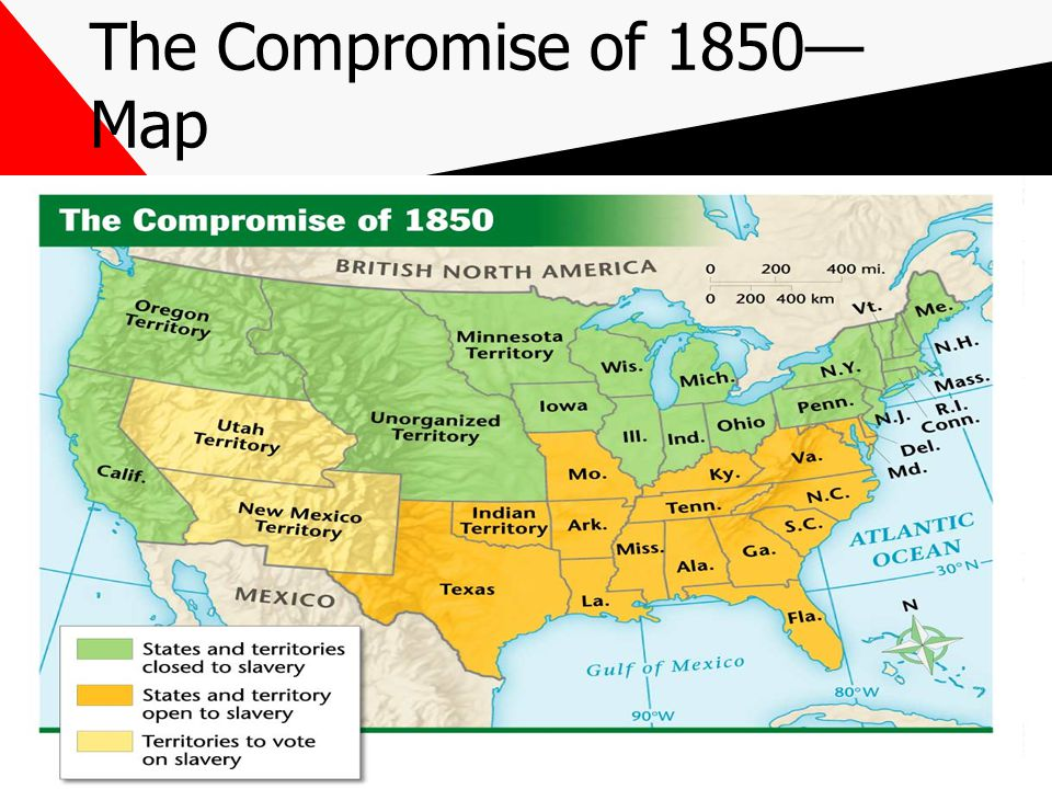 This Powerpoint Is Hosted On Ppt Video Online Download - Compromise of 1850 map