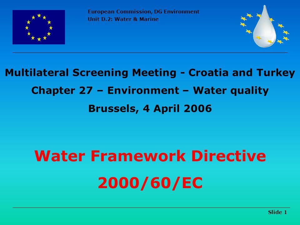 Water Framework Directive 2000/60/EC