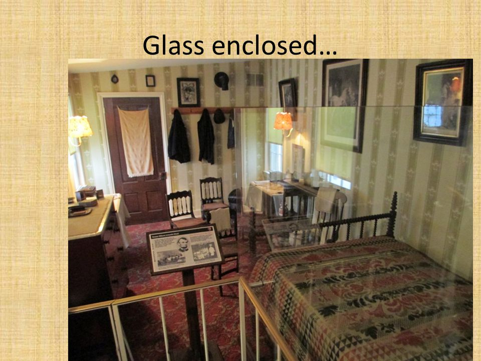Glass enclosed…