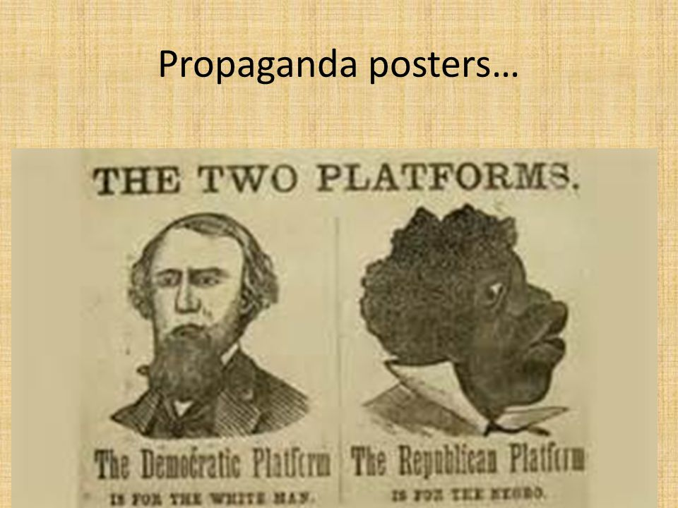 Propaganda posters…